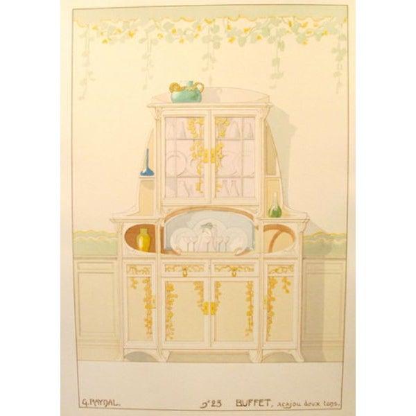 Vintage French Decorator Sheet Interior/Sideboard - Image 3 of 3
