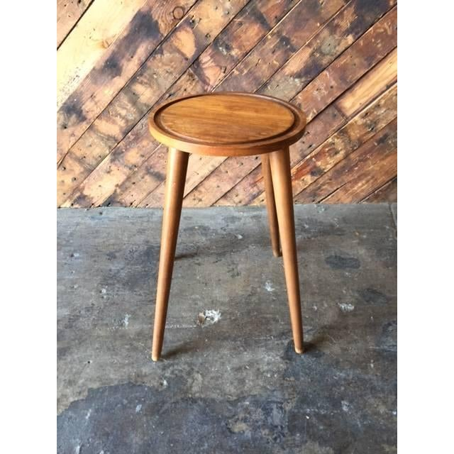 Mid-Century Danish Plant Stand Side Table - Image 2 of 4