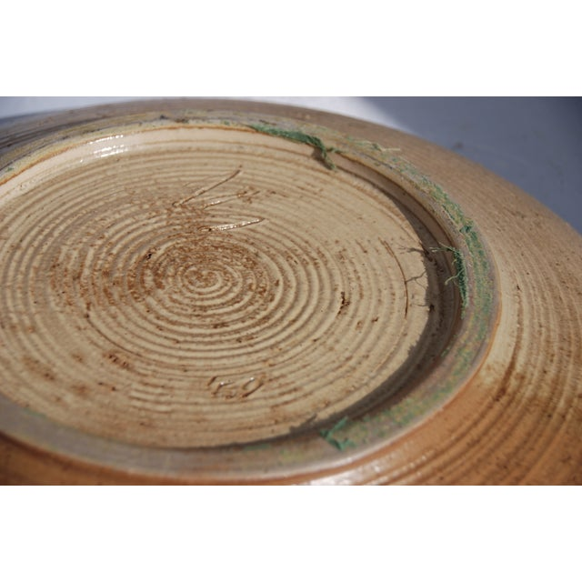 Mid-Century William Wyman Style Pottery Charger - Image 11 of 11