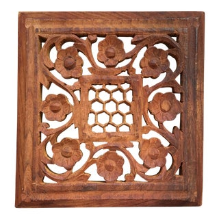 Indian Sandalwood Carved Trivet
