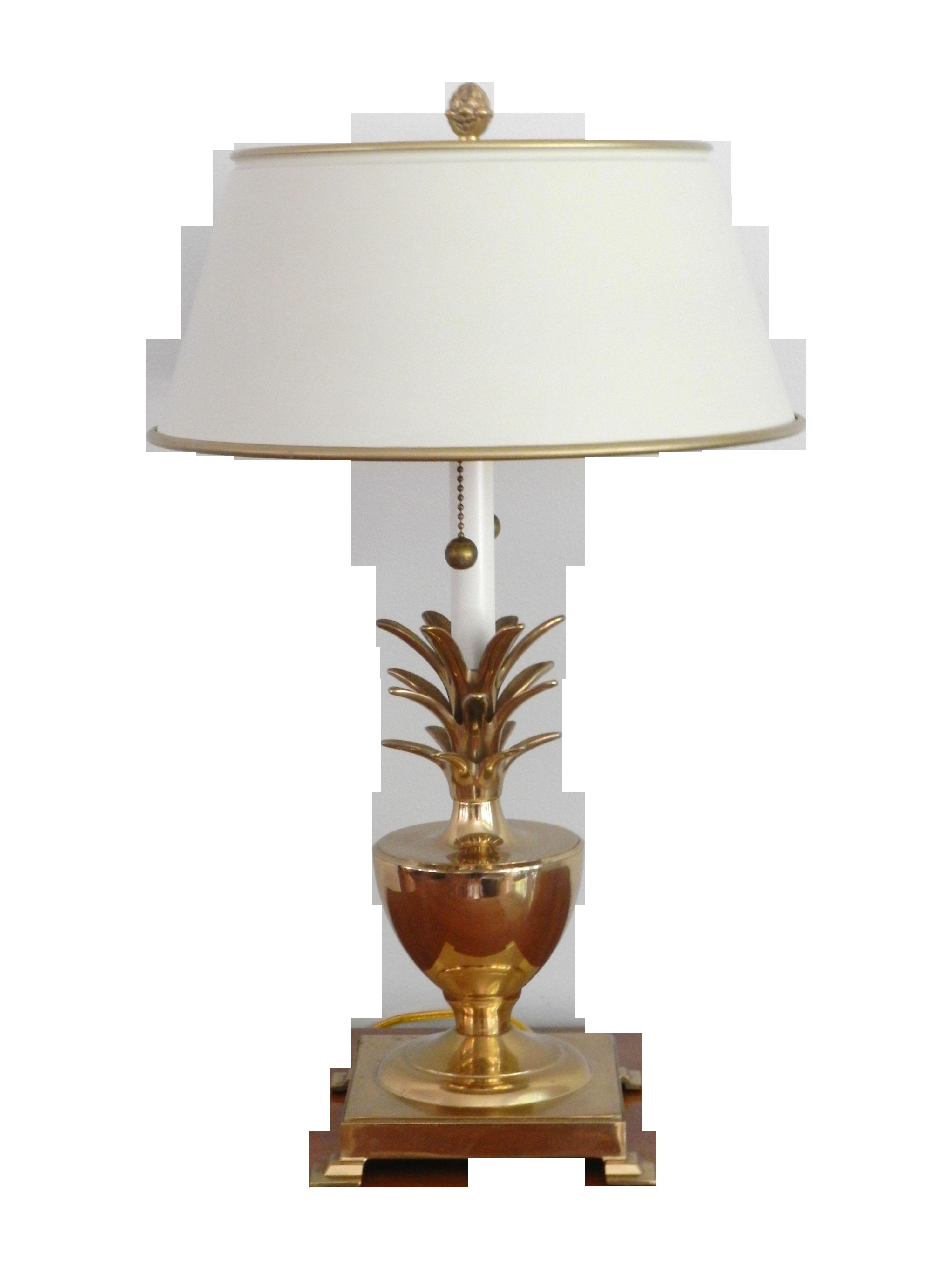 Brass Pineapple Table Lamp Vintage Brass Pineapple Table Lamp | Chairish