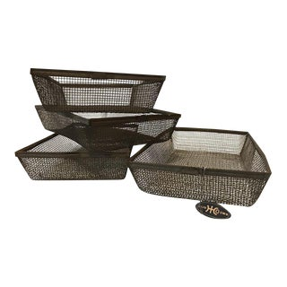 """Our Own Hardware"" Store Shabby Chic Vintage Baskets - Set of 4"