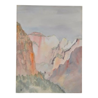 Yosemite Valley Watercolor c.1981