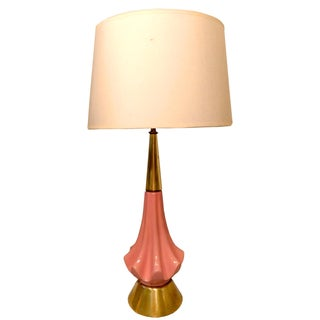 Mid Century Pink Ceramic Table Lamp