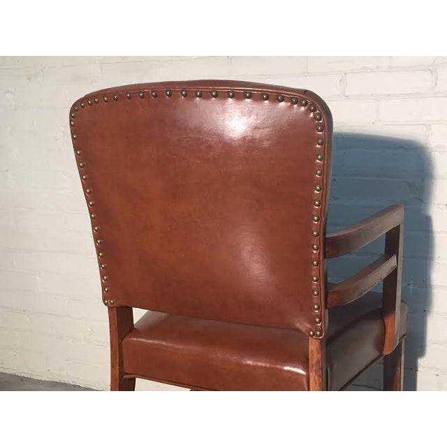 Mid-Century Office Chairs W/Nailhead Back - A Pair - Image 9 of 10