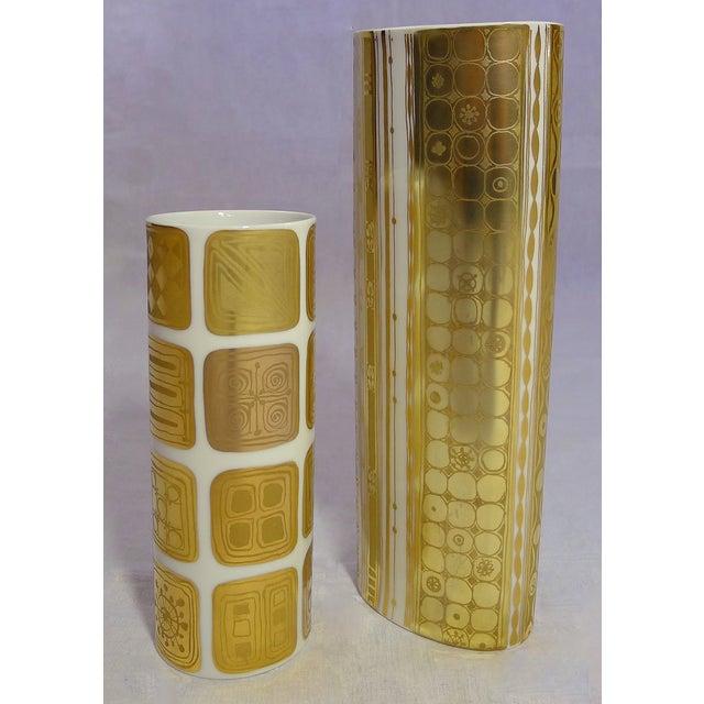 Bjorn Wiinblad Vintage Gold Vases - A Pair - Image 2 of 7