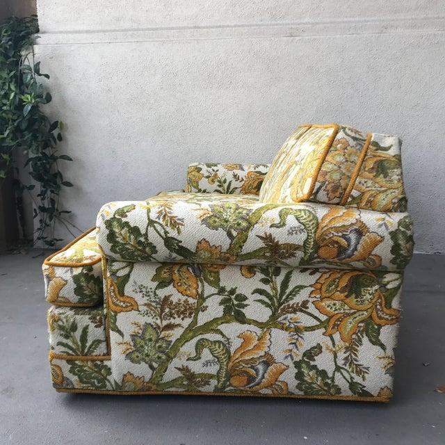 Vintage Mid-Century Modern Upholstered Floral Sofa - Image 6 of 8