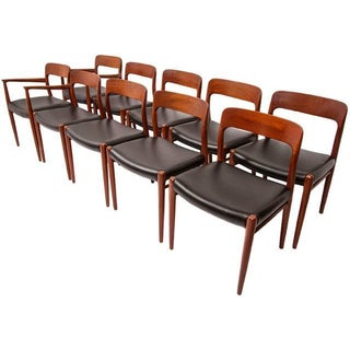 Niels Moller Teak Dining Chairs - Set of 10