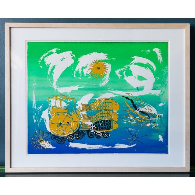 Barbara Vada Benson Seascape Serigraph - Image 2 of 6