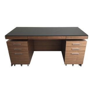 BDI Sequel Walnut Desk With Additional Storage