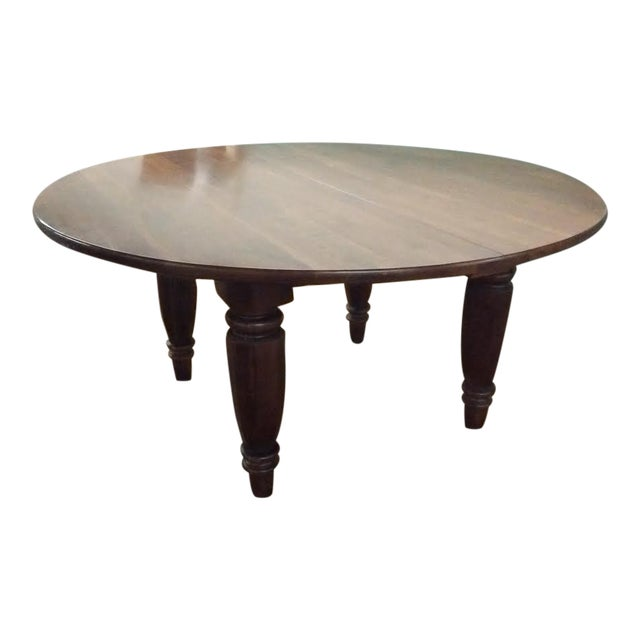 bob timberlake for lexington round cherry dining table chairish. Black Bedroom Furniture Sets. Home Design Ideas
