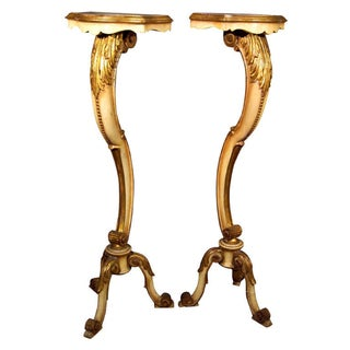 French Rococo Style Pedestals - A Pair