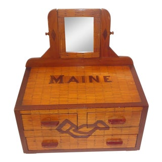 Maine Folk Art Keepsake Box