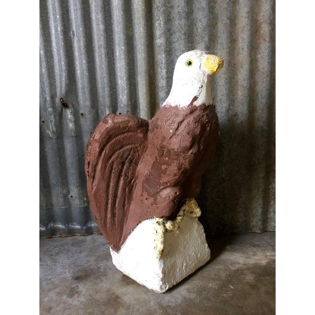 Vintage Concrete Eagle Statue - Image 4 of 8