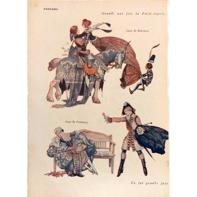 "Armand Valle 1919 Fantasio ""Les Foll' Modes"" Print - Image 5 of 5"