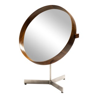Uno and Osten Kristiansson Rosewood Table Mirror for Luxus