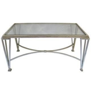 Mid-Century Steel & Glass Coffee Table