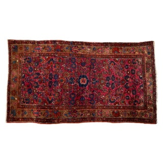 "Vintage Persian Merhaban Rug - 3'7"" x 6'5"""