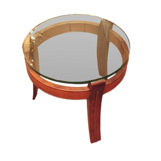 Mahogany and Glass Occasional Table by Fontana Arte, Italy circa 1938