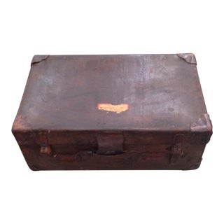 Vintage Rustic Leather Trunk