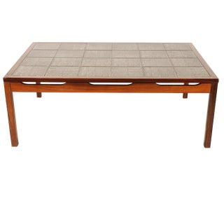 Mid-Century Modern Tile Top Center Table