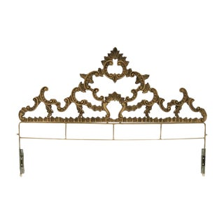 Hollywood Regency Bronzed Metal King Headboard