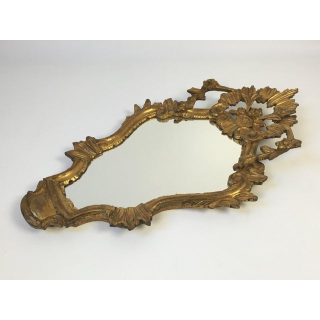 Antique Italian Hand-Carved Gilt Wood Mirror - Image 4 of 10