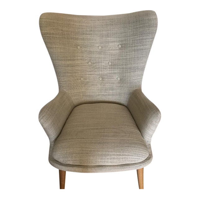 West Elm Wingback Chair - Image 1 of 6