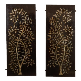 "Pair of MOP Inlaid ""Tree of Life"" Vietnamese"