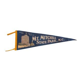 Vintage Mt. Mitchell State Park, NC Felt Flag