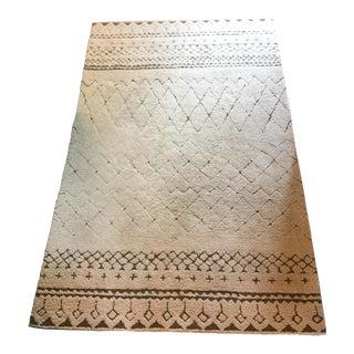 Moroccan Tribal Style Wool Rug - 5' x 8'
