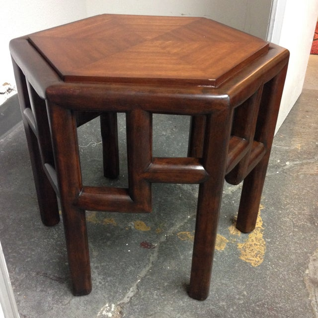 New Bamboo Hexagon Side Table - Image 5 of 10