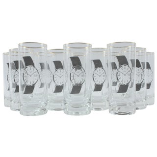 Vintage Wristwatch Tumblers - Set of 12