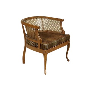 1960s Caned Barrel Chair