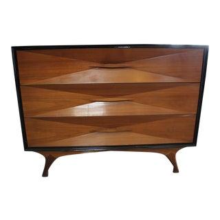 Albert Parvin Black Lacquer Dresser