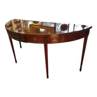 "Kindel Furniture ""Tudor House"" Demi Lune Table"