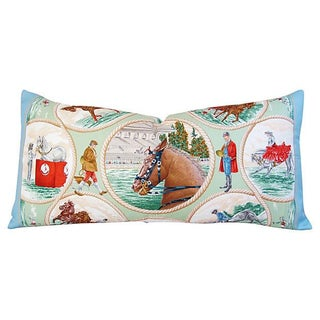Custom Hermes Carl De Parcevaux Silk Pillow