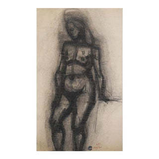 1942 Charcoal Drawing by Richard Hackett