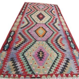 """Vintage Turkish Kilim Rug - 6'5"""" x 10'4"""""""