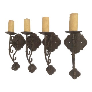 Tuscan Style Wall Sconces - Set of 4