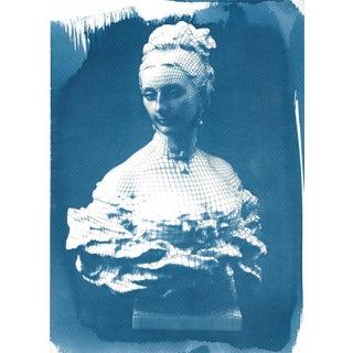 Victorian Bust Cyanotype Print