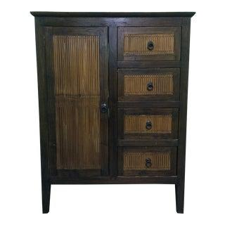 Japanese Bamboo Cabinet