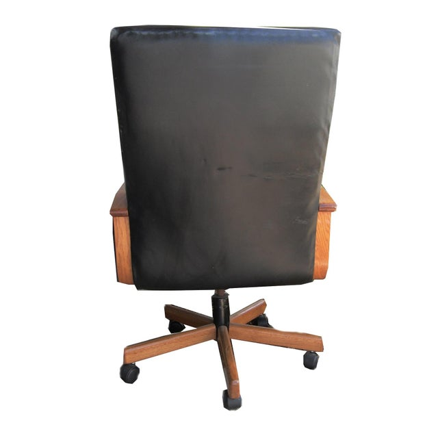 Image of Black Leather Executive Office Chair
