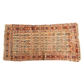 Antique Kurdish Bijar Rug - 3'11' X 7'7""