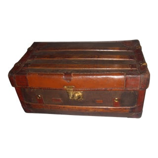 English Leather & Wood Trunk