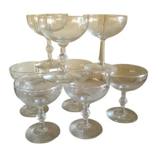Mid-Century Champagne Glasses - Set of 8