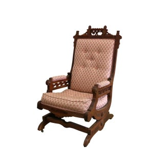 1880s Pink Rocking Chair
