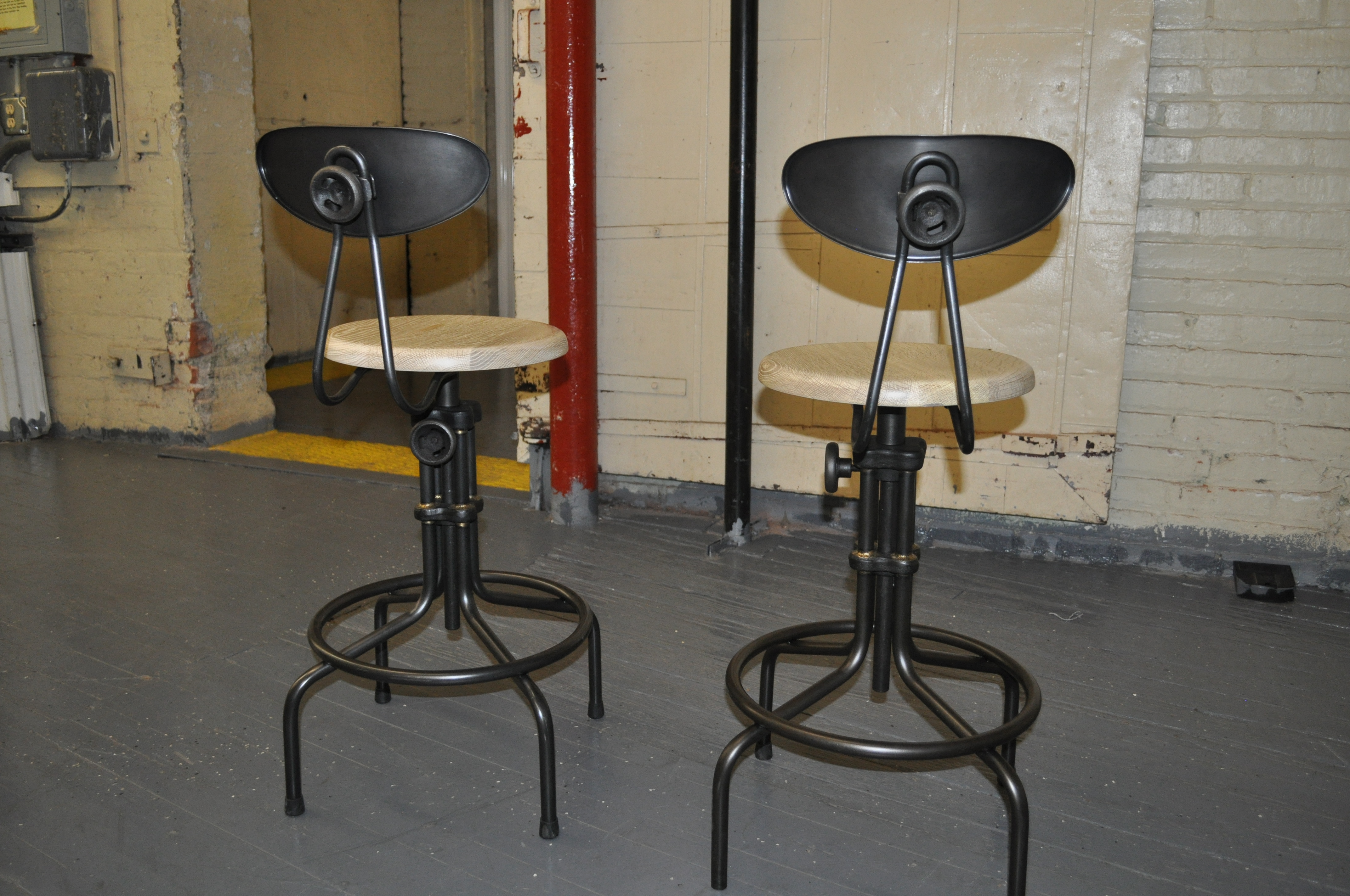 Industrial Style Adjustable Bar Stools Set of 2 Chairish : 9424729f c1df 413f ad9b 35be616a7eaaaspectfitampwidth640ampheight640 from www.chairish.com size 640 x 640 jpeg 42kB