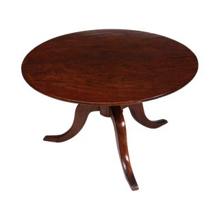 Romanian Walnut Round Side Table