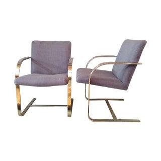 Flat Bar Chrome Brno Chairs - A Pair